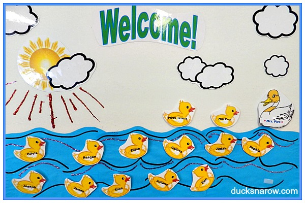 Ducks on the Pond getting to know you preschool activity