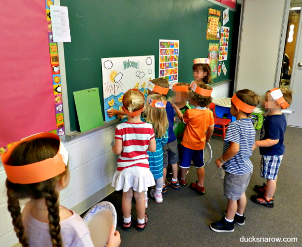 Preschool getting to know you activity with ducks & imaginary cars #kids