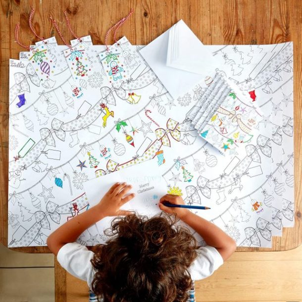 Color your own wrapping paper, tags and more #ad