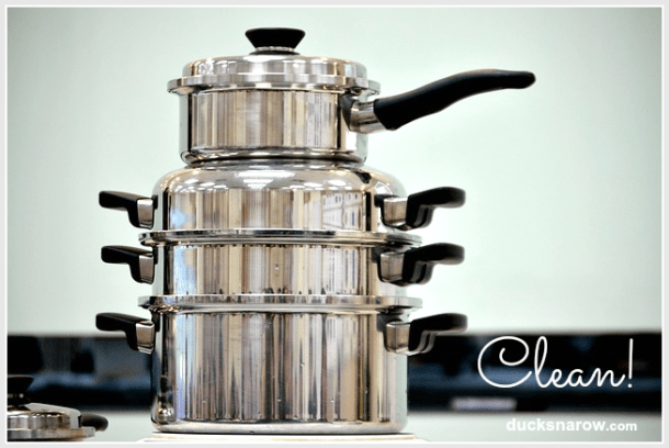 household hints - how to clean burnt pots and pans