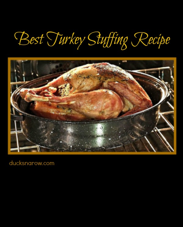 Recipe for matzo stuffing for a delicious turkey dinner! #DucksnaRow #recipes