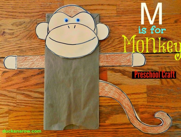 Letter M is for monkey preschool lesson #crafts