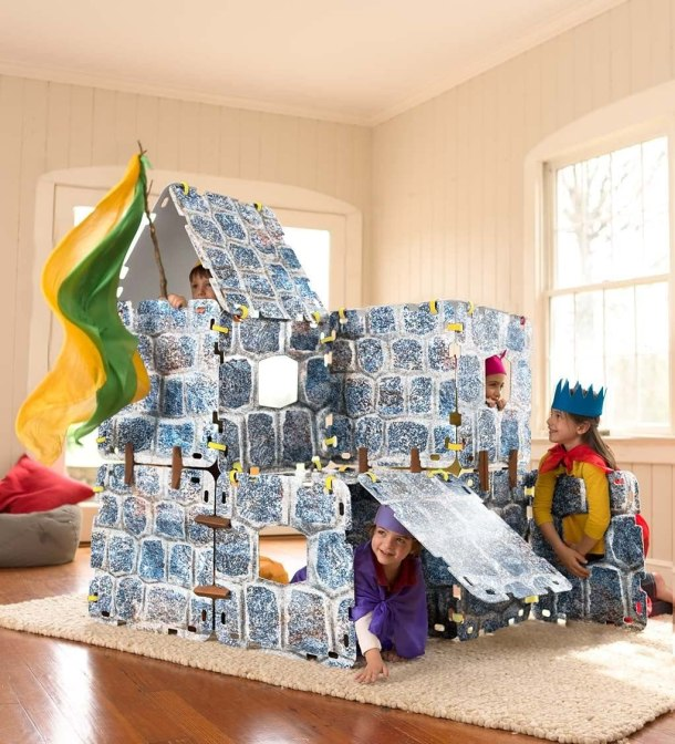 Magic Cabin Castle fort to build for kids #toys #ad