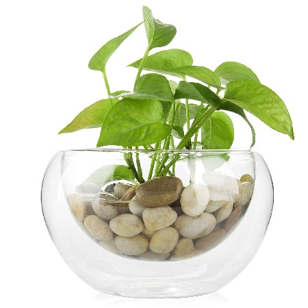 Stunning planter vase with stones #homedecor