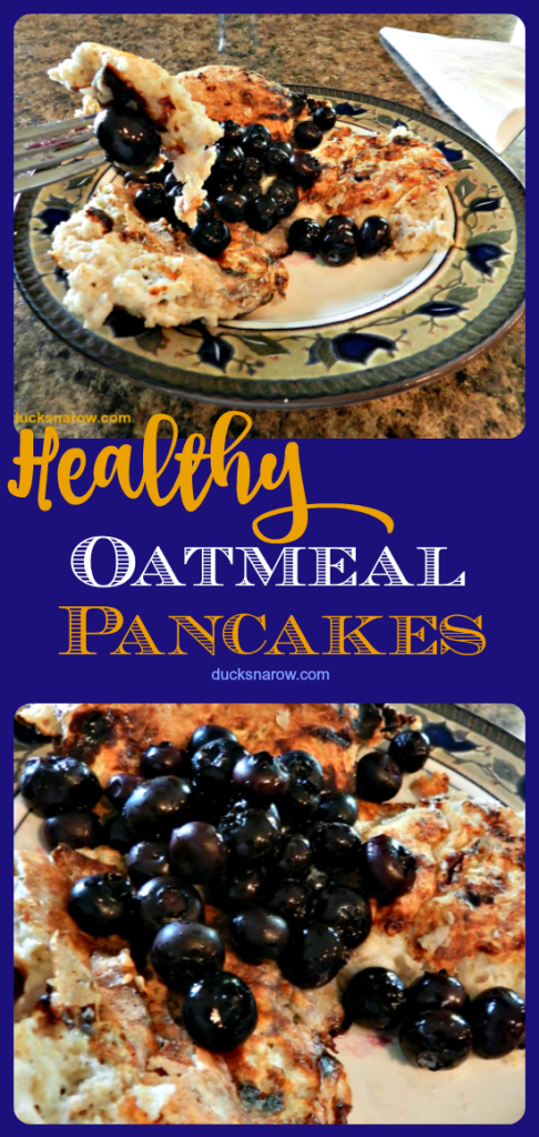 Healthy Oatmeal Pancakes Recipe #DucksnaRow #THM #healthyeating
