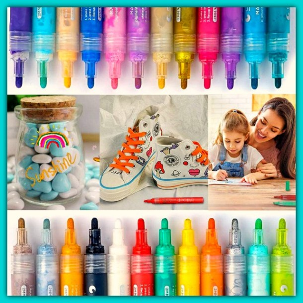 Acrylic Paint Pens for rock painting, glassware and crafts of all kinds