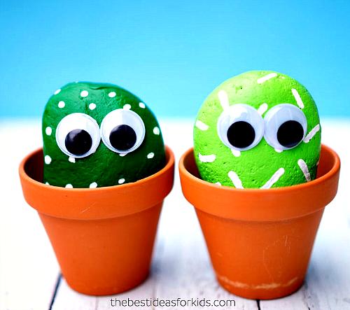 Pet Cactus painted rocks