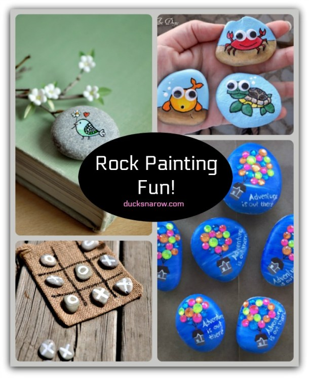 Rock painting is fun!