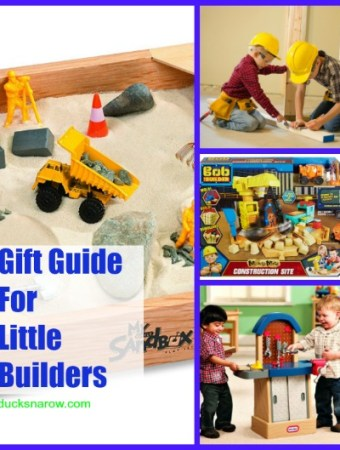 Do you have little builders in your life? This gift guide is filled with fun toys -tools costumes & props- for kids who love to build and fix things!