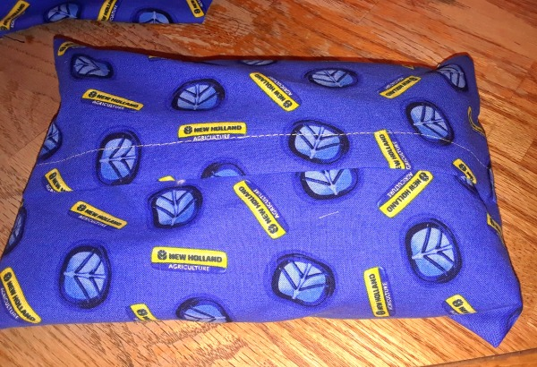 Slip cover on the outside of the bean bag