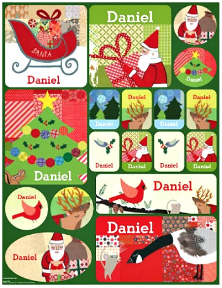 Personalized holiday stickers for kids! #ad