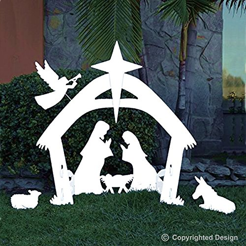 Outdoor Christmas decoration for your yard - Nativity Scene #ad