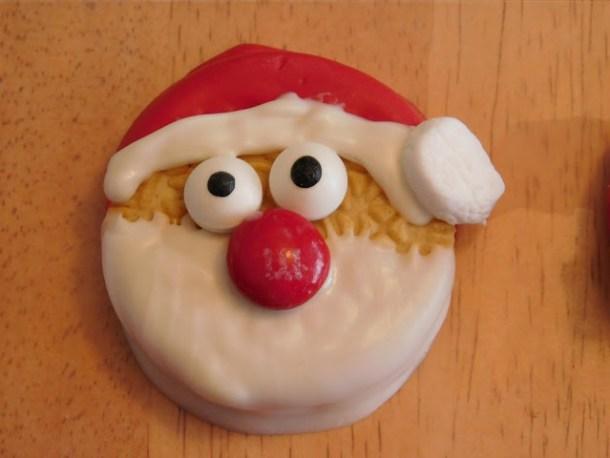 Adorable snowman cookie