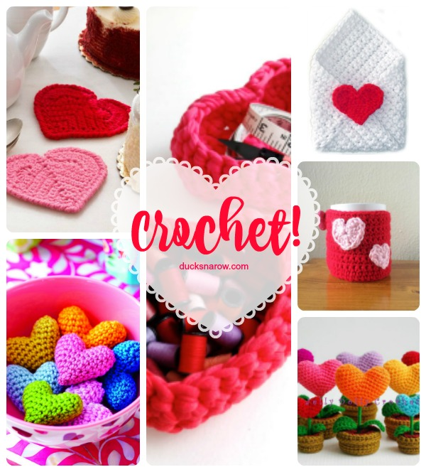 Crochet projects for Valentines Day #crochet