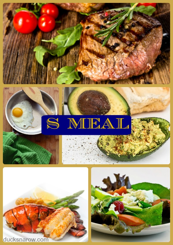 Satisfying Meals called S Meals on Trim Healthy Mama Plan