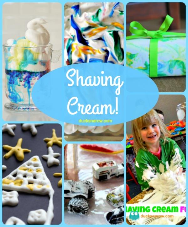 Fun activities for kids using shaving cream