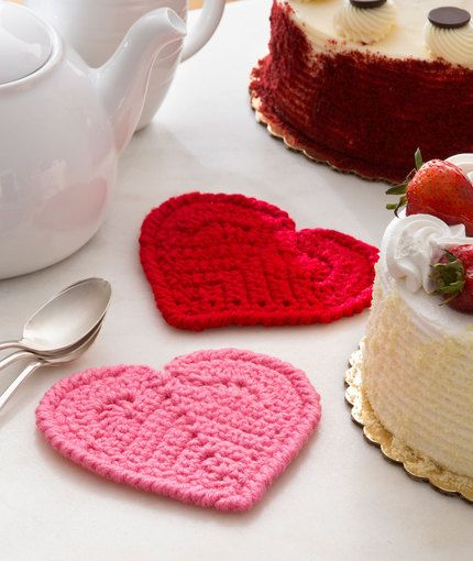 Valentine coasters craft