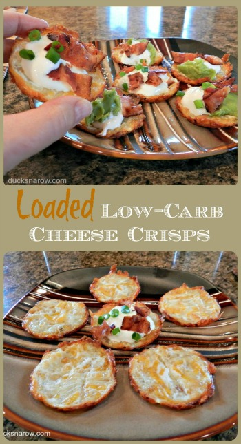 Loaded low-carb cheese crisps