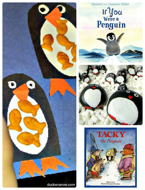 Games and books all about penguins #kids