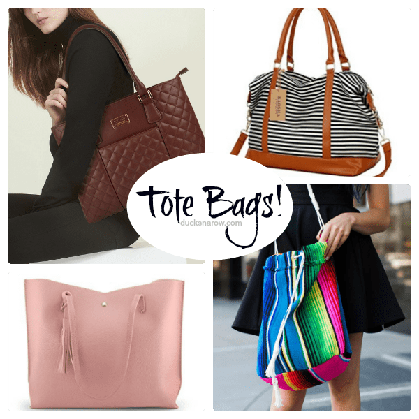 Fun tote bags for busy moms and teachers #ad