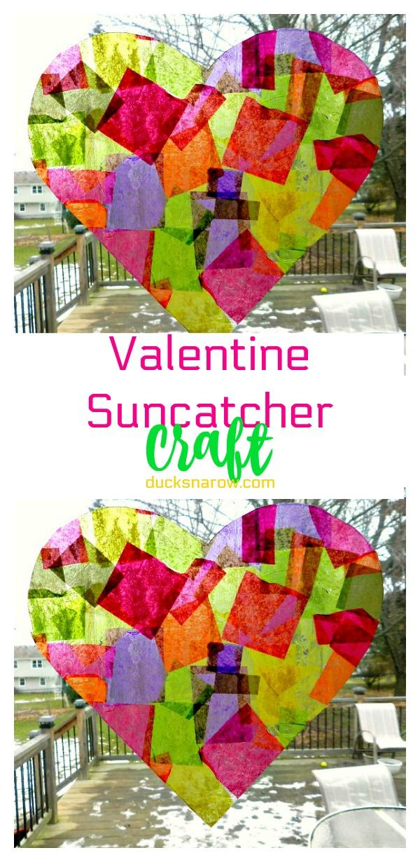 Pretty heart shaped suncatcher craft for #kids