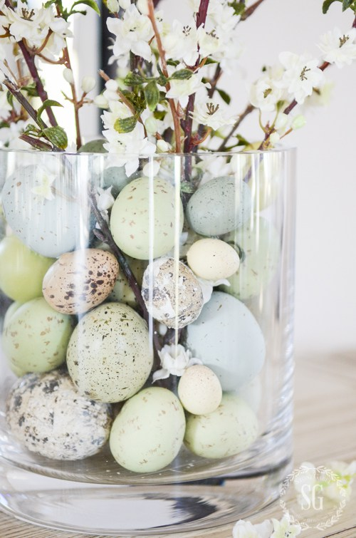 Simple 10 minute decorations for Easter #crafts