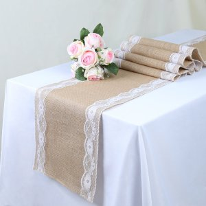 Five pack of burlap table runners - perfect for stylish wedding receptions #weddings #ad