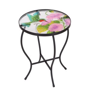 Floral bistro-style side table #patio #furniture