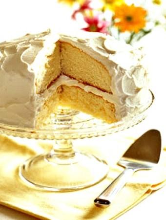 Delicious homemade white cake #recipes