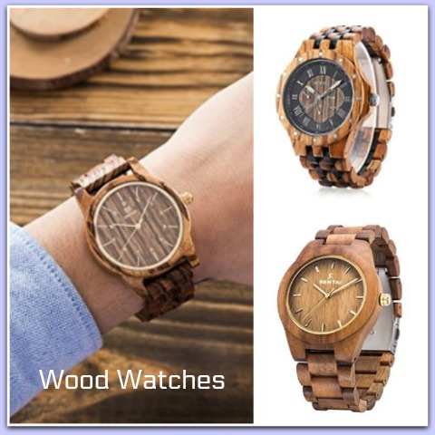 Wood watches for men look so nice! #ads