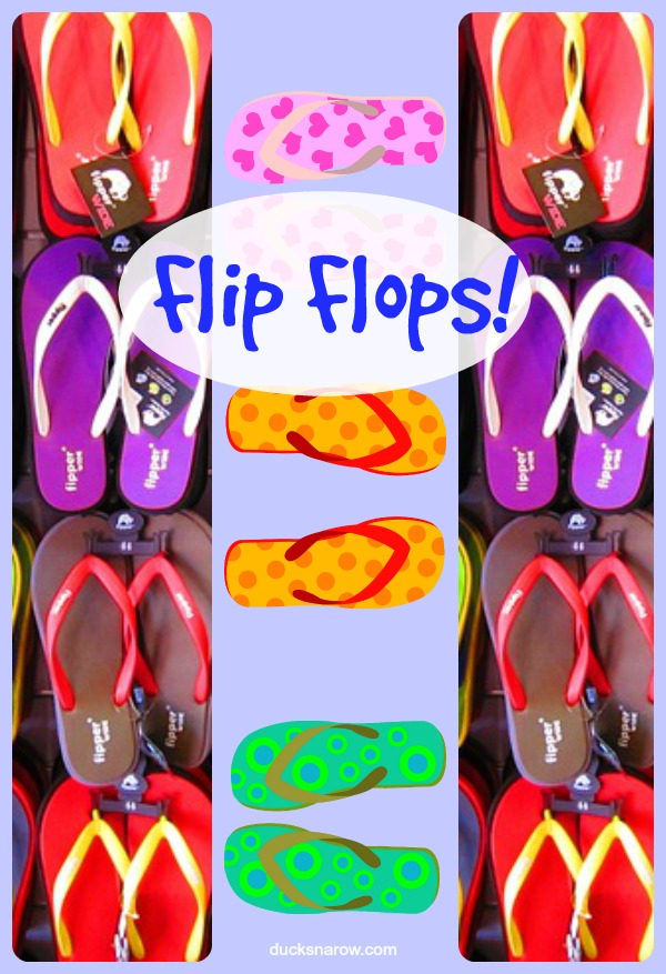 Colorful fun flip flops of all kinds #clothes