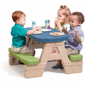 Durable picnic table with umbrella for little kids #ad
