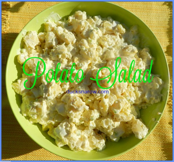 Mom's homemade potato salad #recipe