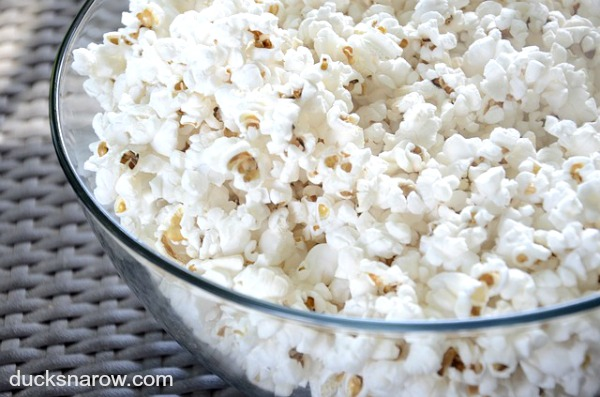 Make a bowl of popcorn and watch a good movie #familyfun