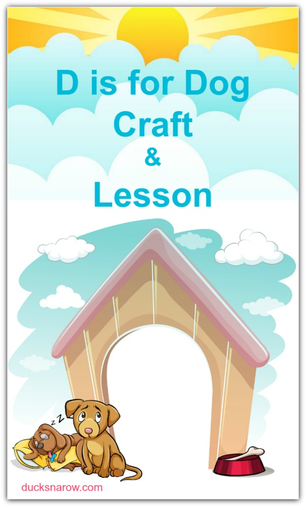 Letter D is for Dog preschool craft and lesson #preschool