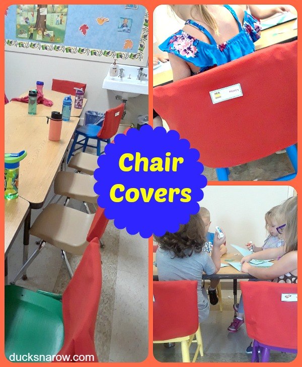 Make colorful chair covers for your preschool classroom #preschool