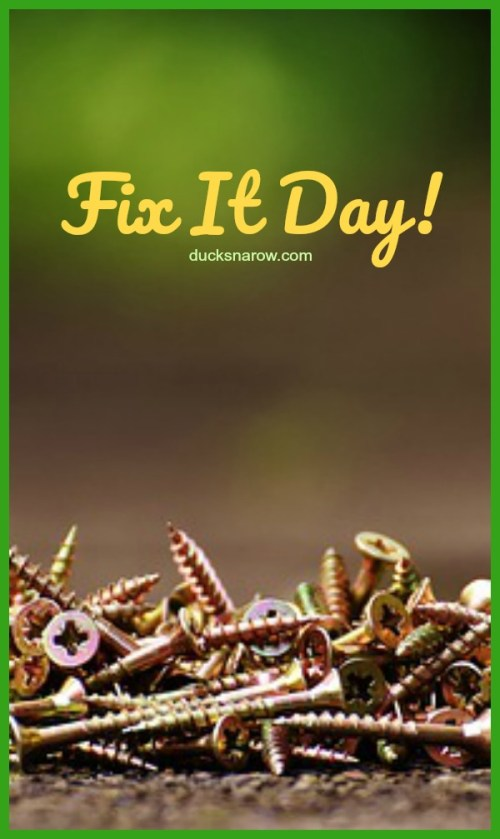 Having a Fix It Day keeps your home maintenance on track! #tips