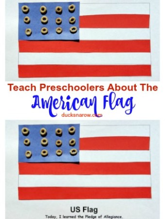 American flag lesson for kids