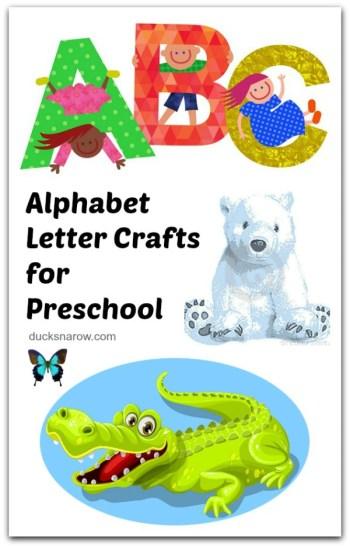Kids alphabet crafts you will love! #preschool