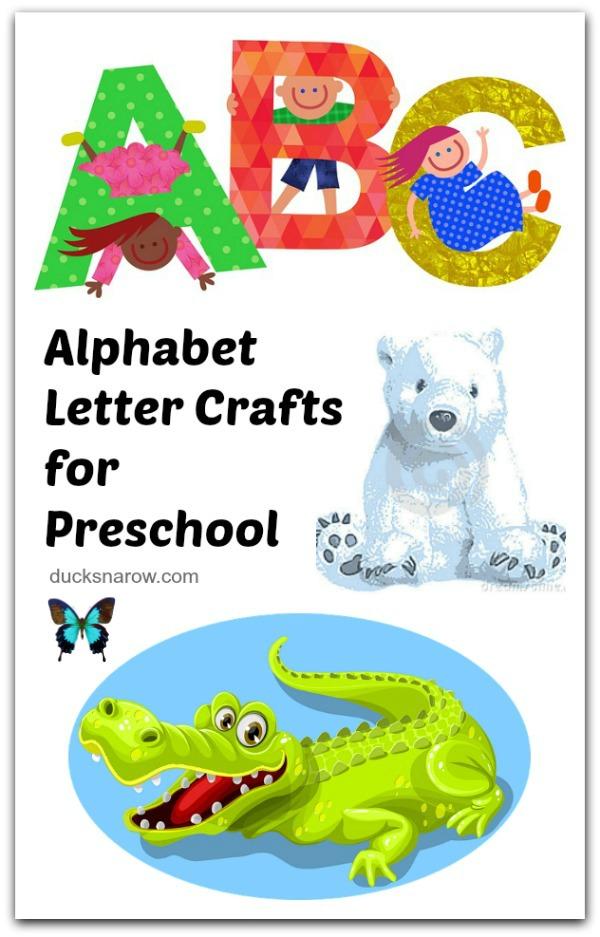 Kids alphabet crafts you will love! #DucksnaRow #kids #crafts #preschool