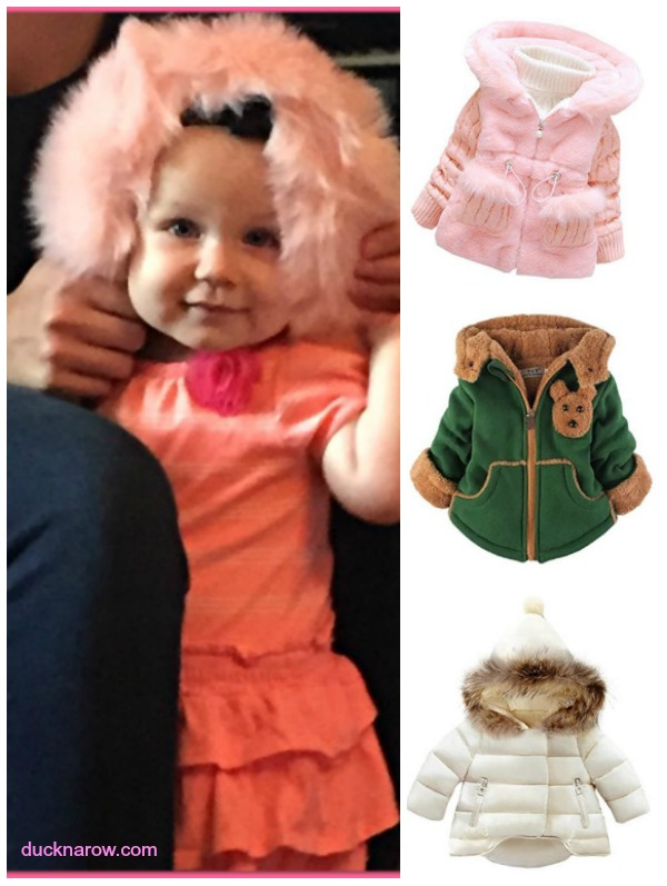 Cute baby coats with faux fur!