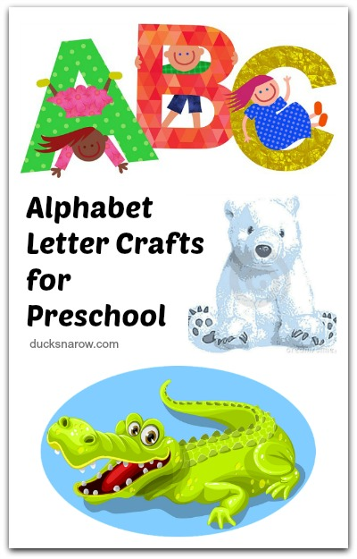 A-Z alphabet letter theme preschool crafts