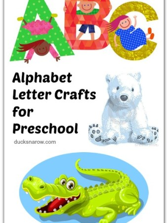 Letter of the week crafts for #preschool