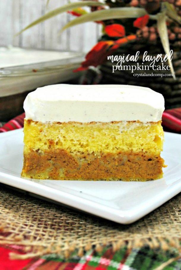 Layered pumpkin cake recipe