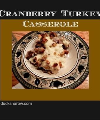 Delicious and easy cranberry turkey stuffing casserole recipe #Thanksgiving