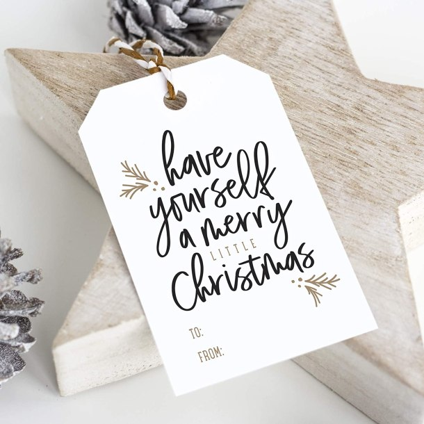 Bliss collection holiday gift tags #ad