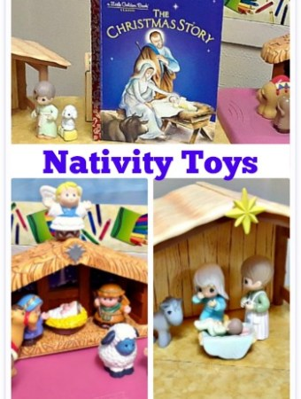 Nativity sets for kids to play with #Christmas