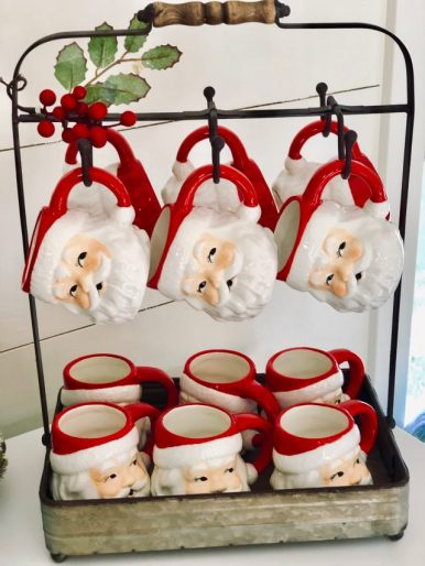 Santa mugs and hot chocolate