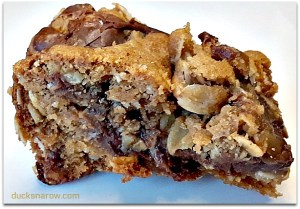 Delicious oatmeal fudge bar recipe #desserts