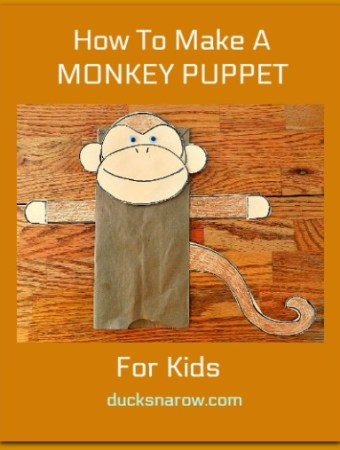 How to make a monkey puppet #preschool #crafts